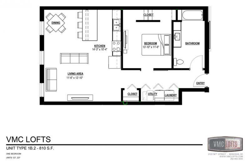 vmc lofts, 1 bedroom apartment kenosha, kenosha apartment for rent
