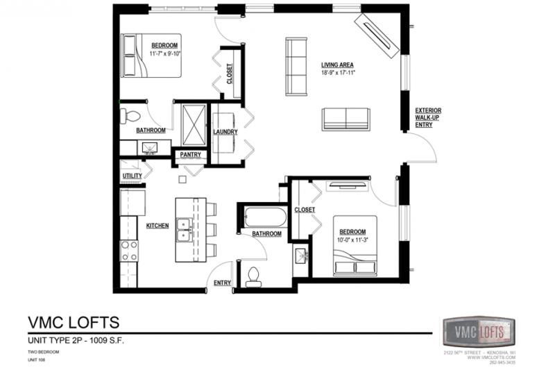 vmc lofts, 2 bedroom apartment kenosha, kenosha apartment for rent