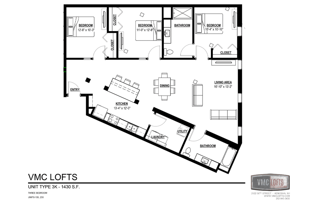 vmc lofts, 3 bedroom apartment kenosha, kenosha apartment for rent